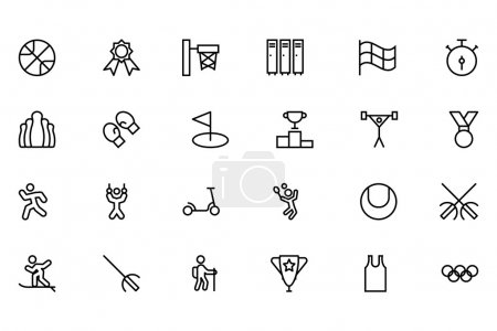 Sports Outline Vector Icons 3