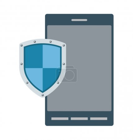 Mobile Security Vector Illustration