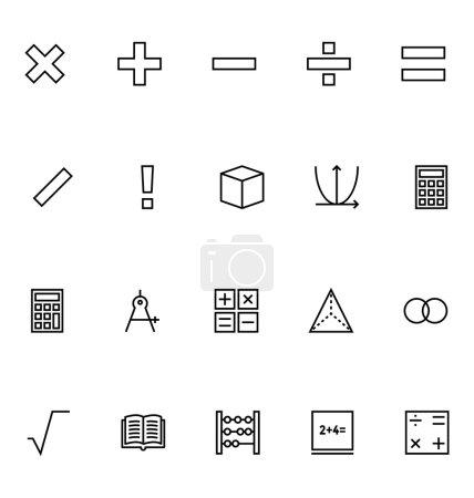 Mathematics Vector Icons 1