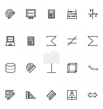 Mathematics Vector Icons 4