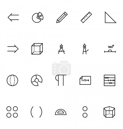 Mathematics Vector Icons 3