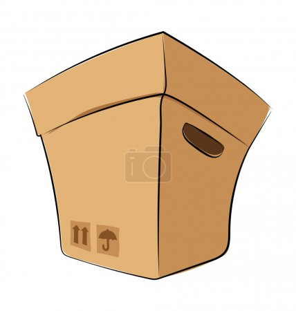 Package Colored Sketchy Vector Icon