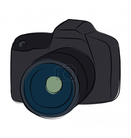 Camera Hand Drawn Colored Vector Icon