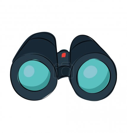 Binoculars Hand Drawn Vector Icon