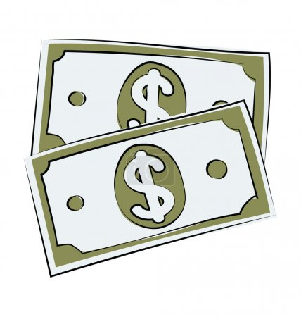 Currency Note Hand Drawn Vector Icon