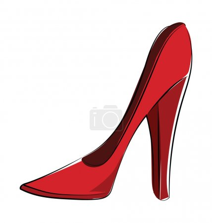 Heel Pumps Colored Vector Icon