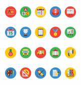 Set of education material education icons