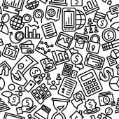 Finance Seamless Outline Iconic Pattern Illustration