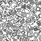 Finance Hand Drawn Outline Icon Pattern Background