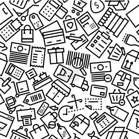 Illustration pour Ensemble de motifs de lignes vectorielles . - image libre de droit
