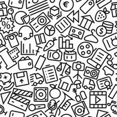 User Interface Seamless Outline Icon Pattern