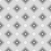 Monochrome Diamond Seamless Sketchy Pattern