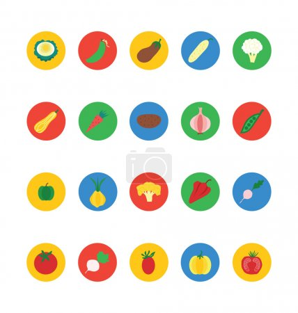 Fruit and Vegetable Vector Icons 4