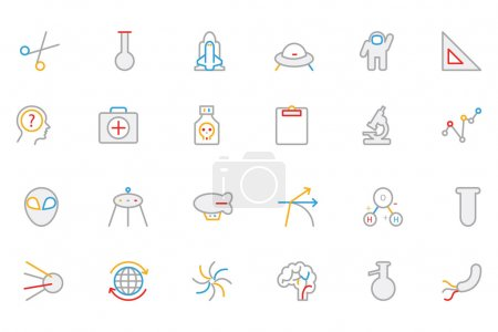 Science Colored Outline Vector Icon 4