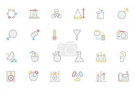 Science Colored Outline Vector Icon 3