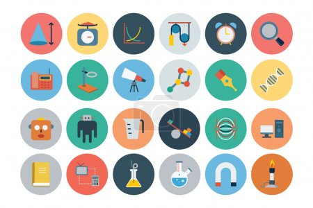 Flat Science and Technology Icons 4