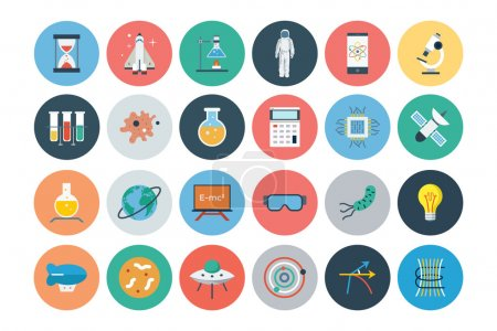 Flat Science and Technology Icons 1