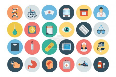 Flat Medical and Health Vector Icons 3