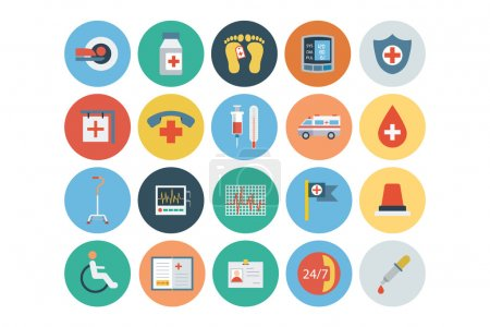 Flat Medical and Health Vector Icons 5