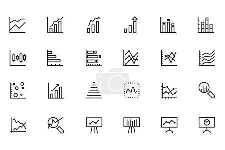 Data Analytics Line Vector Icons 2