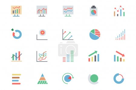 Data Analytics Colored Vector Icons 3