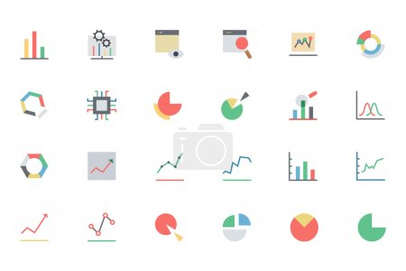 Data Analytics Colored Vector Icons 1