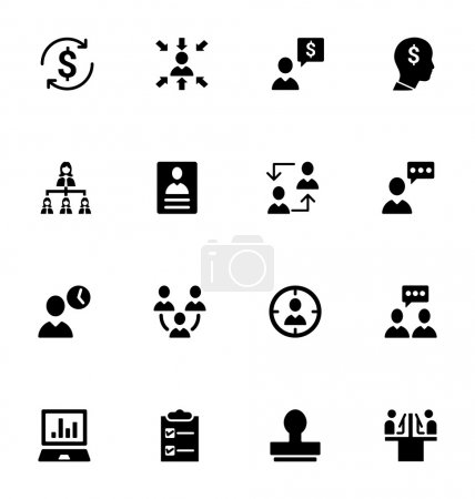 Staff Management Vector Icons 2