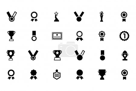 Award and Medal Vector Icons 1