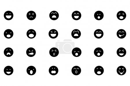 Smiley Line Vector Icons 1