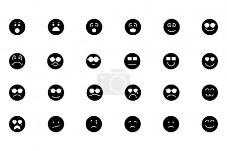 Smiley Line Vector Icons 3