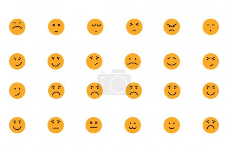 Smiley Colored Vector Icons 5