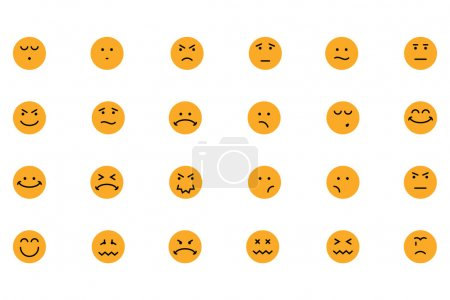 Smiley Colored Vector Icons 4