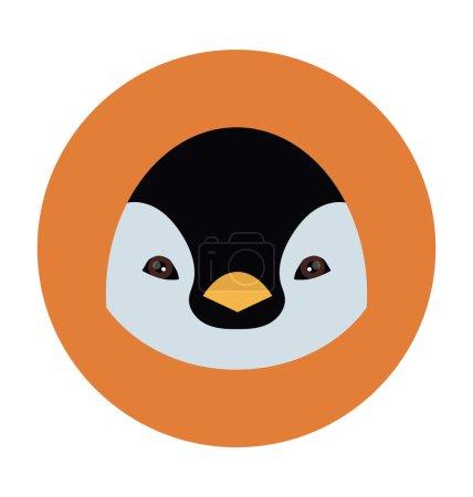 Illustration pour Visages animaux icônes plates - image libre de droit