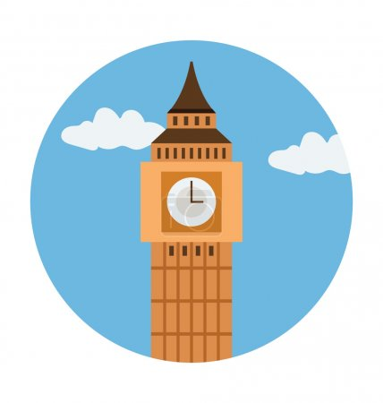 Big Ben Colored Vector Illustration