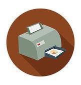 Printer Colored Vector Illustration