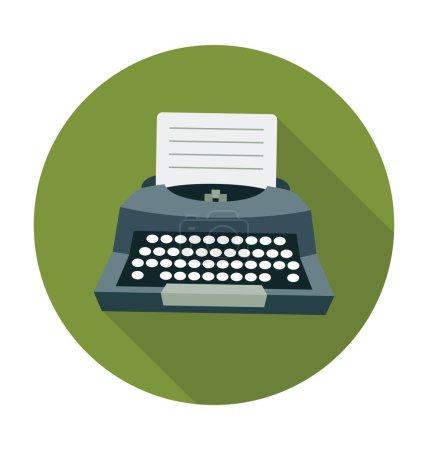 Typewriter Colored Vector Illustration
