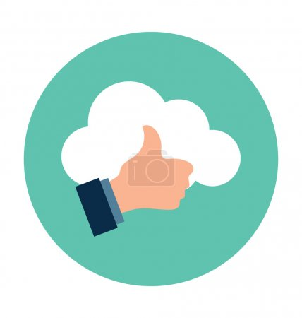 Thumbs Up Colored Vector Illustration