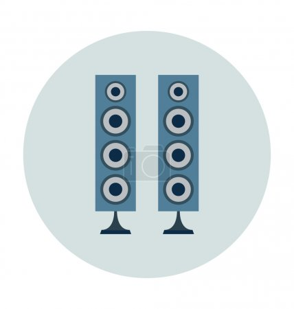 Speaker Colored Vector Icon