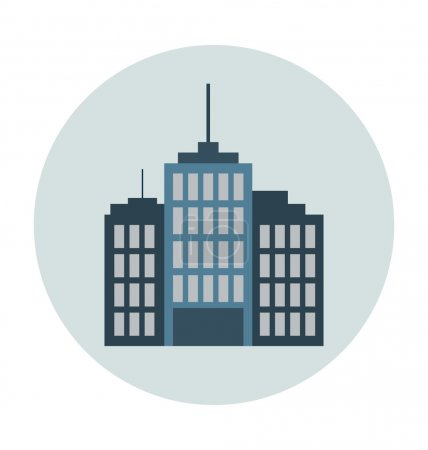 Met Life Tower Colored Vector Illustration