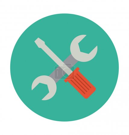 Repairing Tools Colored Vector Illustration