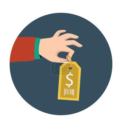 Illustration pour Icône de couleur plat immobilier. - image libre de droit