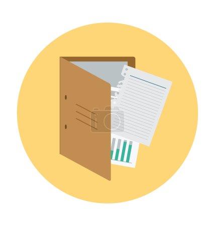 Paper Folder Colored Vector Illustration