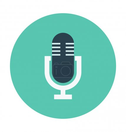 Mic Colored Vector Illustration