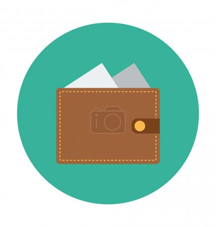 Wallet Colored Vector Illustration