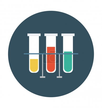 Illustration for Science flat colored icon. - Royalty Free Image