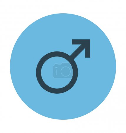 Male Gender Colored Vector Icon