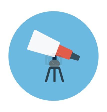 Telescope Colored Vector Icon
