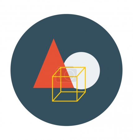 Geometrical Shapes Colored Vector Icon