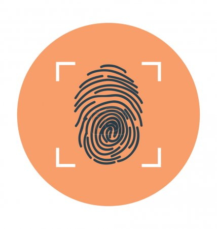 Fingerprint Colored Vector Illustration