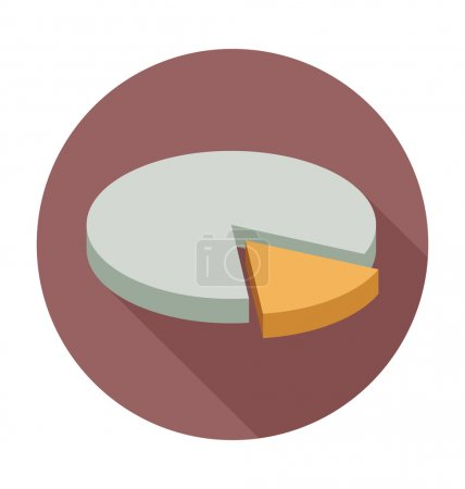 Pie Chart Colored Vector Illustration
